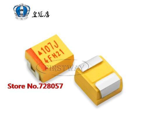 30pcs/lot Free shipping  1210 3528 6V 100UF 6.3V B 107J