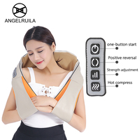 U Shape Car Home Neck Massager Electrical Shiatsu Shoulder Back Body Massagers Infrared 3D Kneading Massagem
