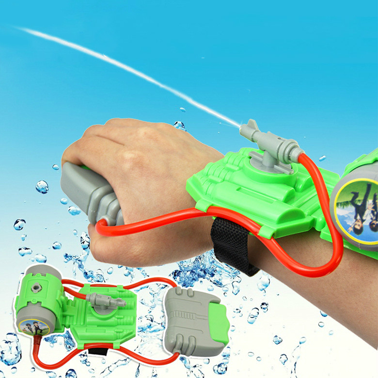 Wrist Water Gun Plastic Swimming Pool Beach Outdoor Shooter Toy Sprinkling Simba Spider-man Kids Summer Toy