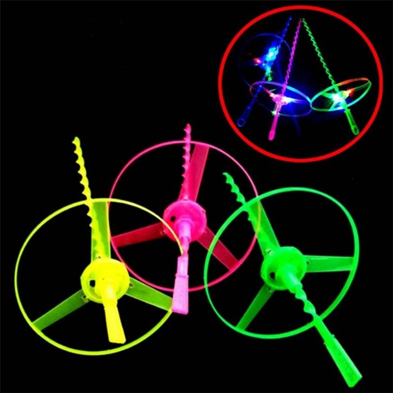 20pcs/lot New design led flashing flying saucer toy for kids birthday party gifts supplies light up glow novelty flying toys