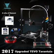 Большая площадь MK3 TEVO Тарантул Алюминий Экструзия 3D комплект принтера принтер 3D печати 2 LCD SD карты Рулоны Волокно 8GB в качестве подарка