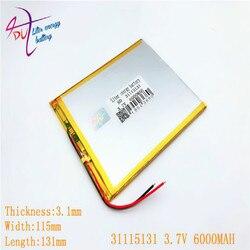 3.7V 31115131 30150130 6000mah Bateria lithiumion Polímero Com Alta Qualidade Li-ion bateria Tablet pc Para tablet PC