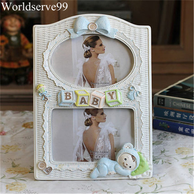 6inch Double Frames Resin Baby Picture Frames Home Decor Photo