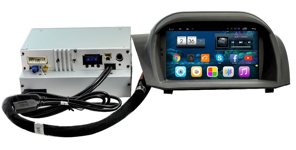 car video gps player for ford fiesta with android system T3 solution IPS screen 1064*600 CPU 1.6G HZ ROM 16G RAM 2G