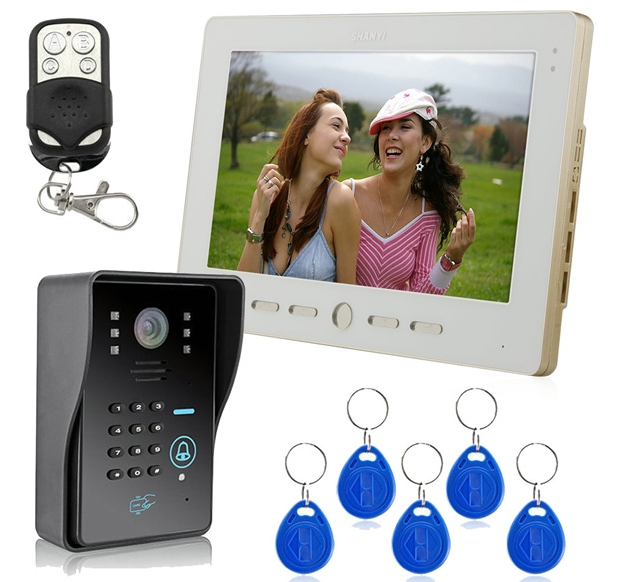 lcd tft hd 10 Video Door Phone Doorbell Intercom System Compatible RFID card video intercomlcd tft hd 10 Video Door Phone Doorbell Intercom System Compatible RFID card video intercom
