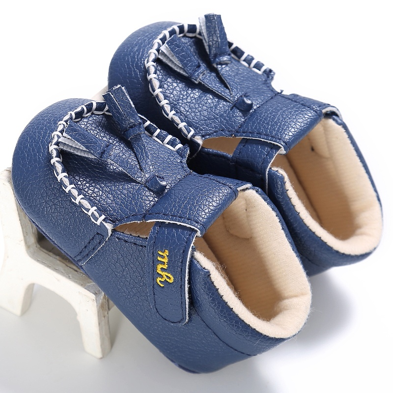 Baby Boy Girl Baby Moccasins Soft Moccs Shoes Bebe Soft Soled Non-slip PU Leather First Walkers