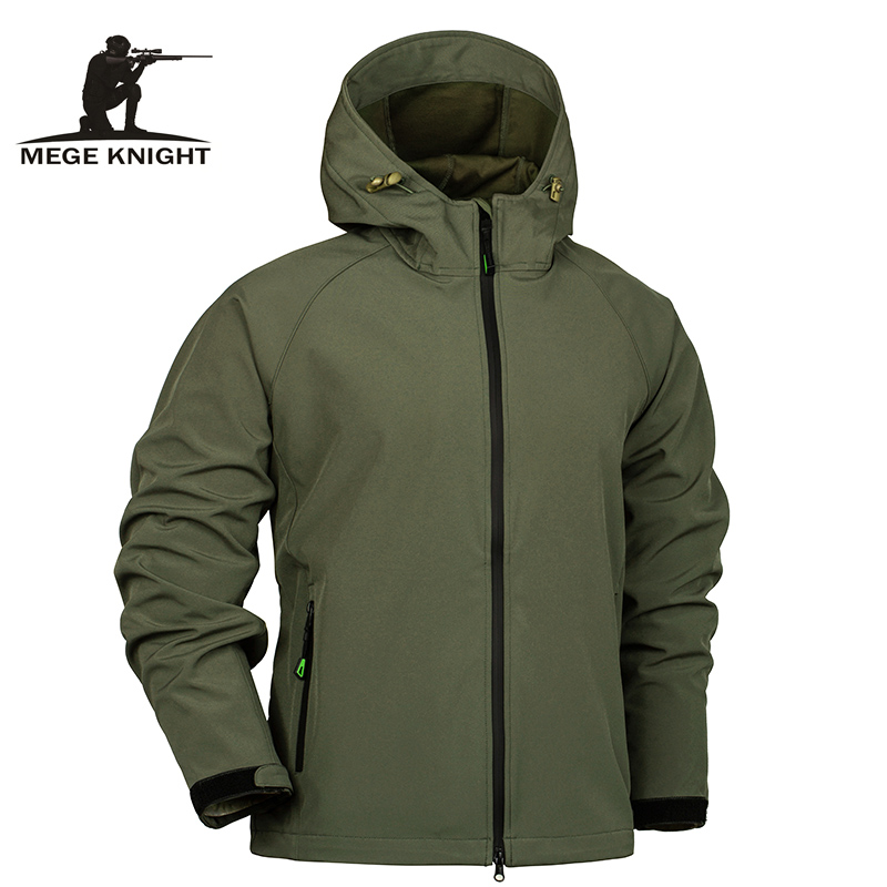 Mege Brand Men's Spring Summer Military Jacket Camouflage Army Hooded Clothing Camouflage Men's Windbreakers Male Casual Outwear