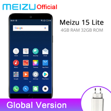 "Official Original Meizu 15 Lite 4GB 32GB Global Version Mobile Phone Snapdragon 626 Octa Core 5.46"" 1920x1080P Front 20.0MP"