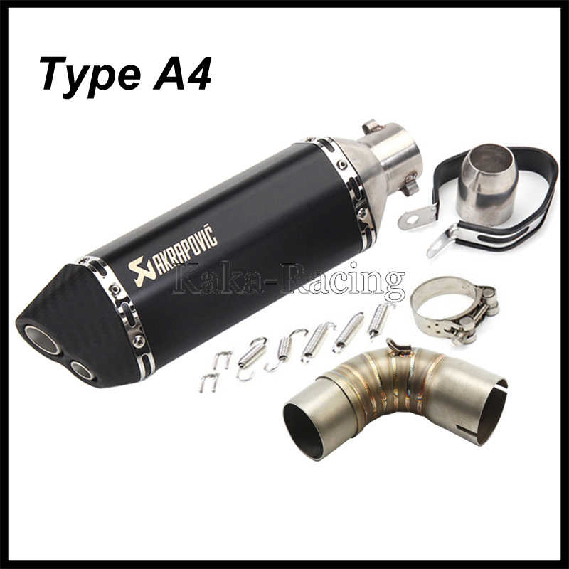 Motorcycle For Honda CB1000R Exhaust Muffler System Connect Middle Link Pipe with Akrapovic Exhaust Tail DB Killer CB 1000R 2012