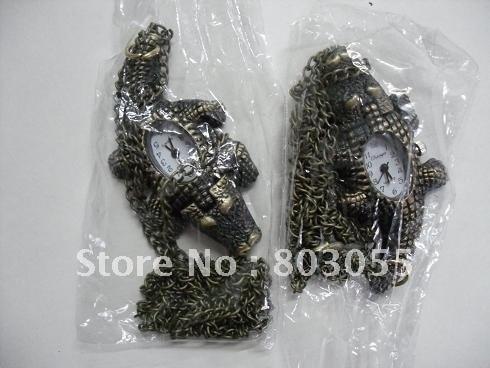 Model 33 RetroStyle pocket watch Fob watch cayman pocket watch with chain 10pcs/lot