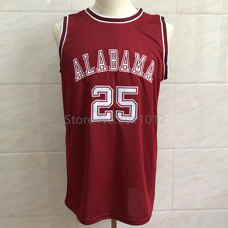 ROBERT HORRY ALABAMA CRIMSON TIDE 25 BASKETBALL JERSEY Red Stitched Custom  any Number and name ... 0bee92fd8