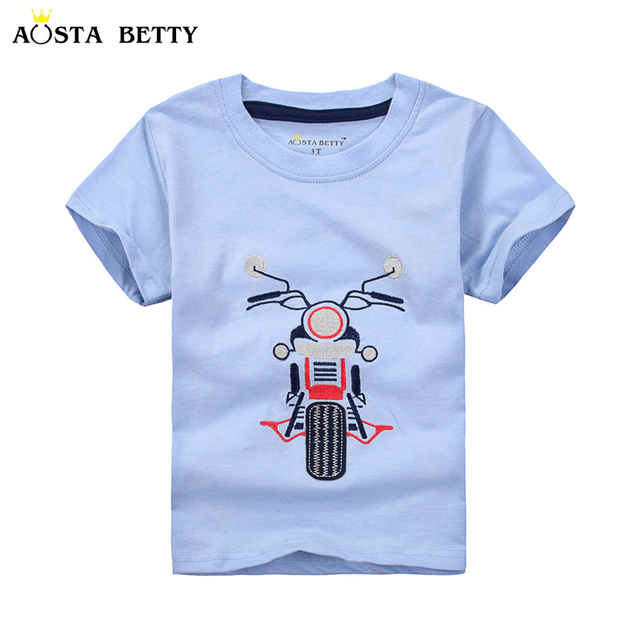 Short Sleeve T Shirt For 1 6 Years Old Boy Fashion Motorcycle