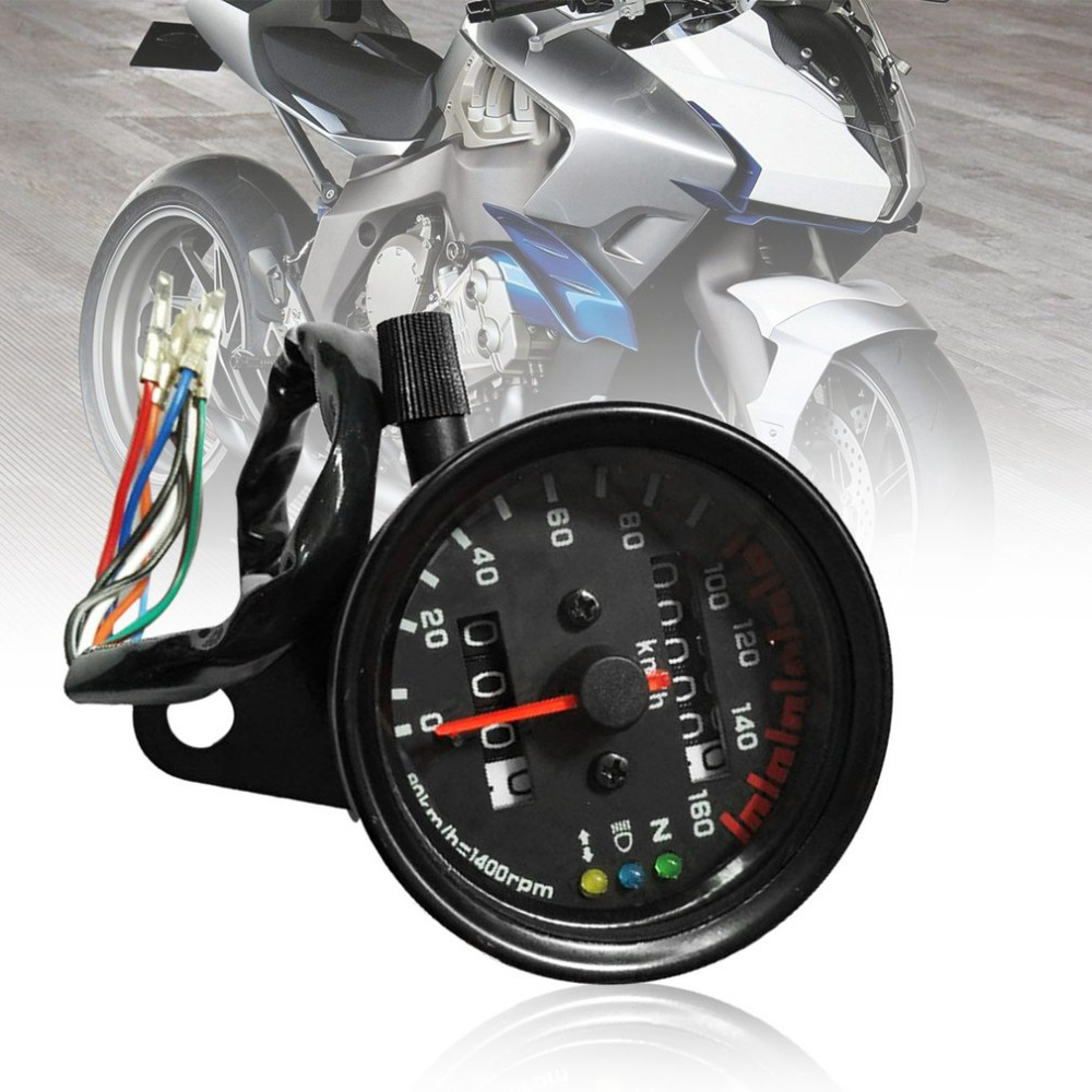 Universal Motorcycle Speedometer Odometer Gauge Dual Speed Meter with LCD Indicator Vintage Modification Accessory Hot Sale image