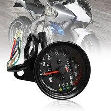 Motocicleta Universal velocímetro, medidor cuentakilómetros Medidor de velocidad dual con indicador LCD Vintage modificación accesorio de Venta caliente