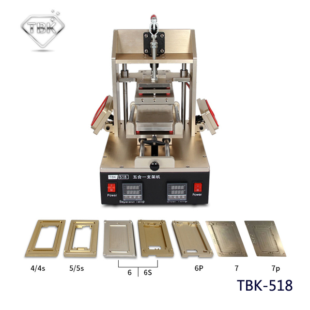 TBK 5 in 1 Frame Machine Mobile Phone Repair Equipment LCD Glue ...