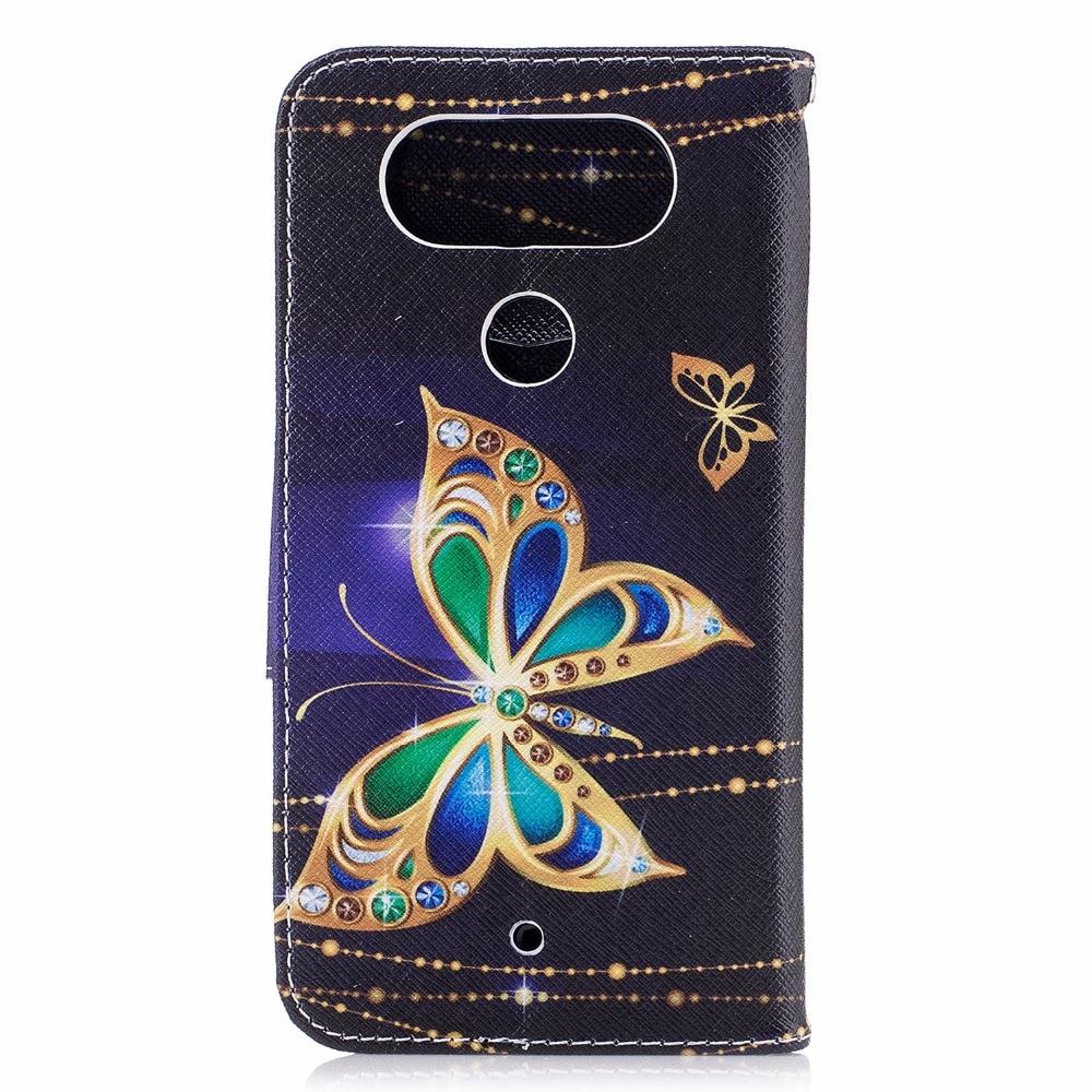 Flip Case For LG Q8 Q 8 8Q Case Mobile Phone Leather Cover For LGQ8 X800K X800L H970 X800 K L wallet bag silicon butterfly Cases