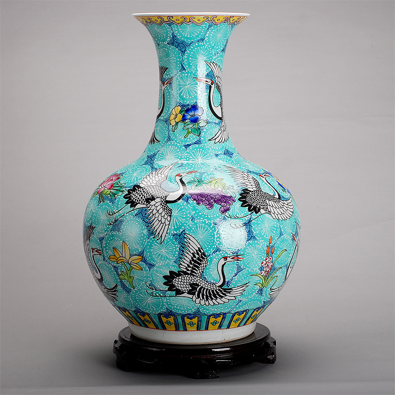 Aliexpress Buy Jingdezhen Handpainted Ceramic Vase Blue Yellow