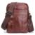 CONTACT'S Moda Genuínos Mensageiro Sacos de Couro Design Com Zíper De Alta Qualidade Sacos de Pequeno Macho Marrom Sólido Tronco Casuais Sacos de Viagem