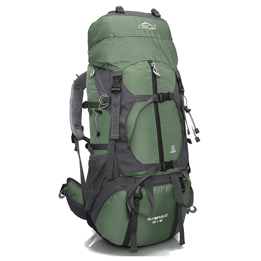 new 65L Nylon Large Capacity Mountaineering Bag High quality Outdoor Backpack Waterproof Travel hiking bags 60l fashion large waterproof men travel bags backpack travel mountaineering backpack bag nylon luggage bags
