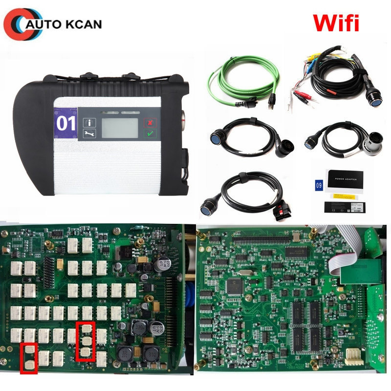 A+++ Quality Full Chip MB STAR C4 /Star C5 with HDD MB SD Connect Diagnostic Tool with WIFI Function for 12V&24V DHL Free