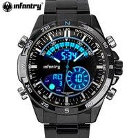Мужские спортивные часы в стиле милитари с цифровым светодио дный ным ремешком erkek kol saati Relogio Masculino