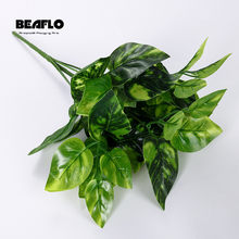 1PC Artificial Grass Plastic Plant 10 style Fake Leaf Flower Wedding Flower Arrangement Christmas Home Decoration(China)