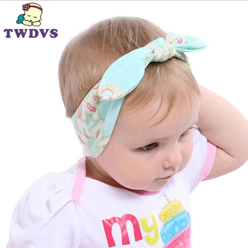 1PC Best Deal Baby Headband Fashion Bunny Ear Girls Headwear Bow Elastic Knot Children Hair Accessories kt-042