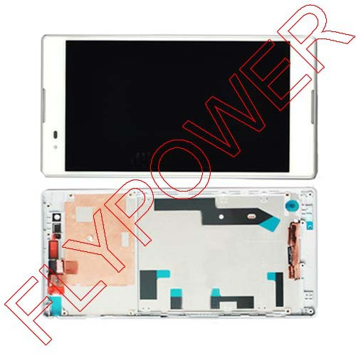 Подробнее о Display LCD+Touch Screen Digitizer + Frame Completed Assembly For Xperia T2 Ultra Dual D5322 XM50h White By Free DHL;5PCS/LOT 10pcs lot aaa 5 black white lcd for sony xperia z1 l39h lcd display touch screen digitizer frame assembly l39 c6902 c6903 dhl