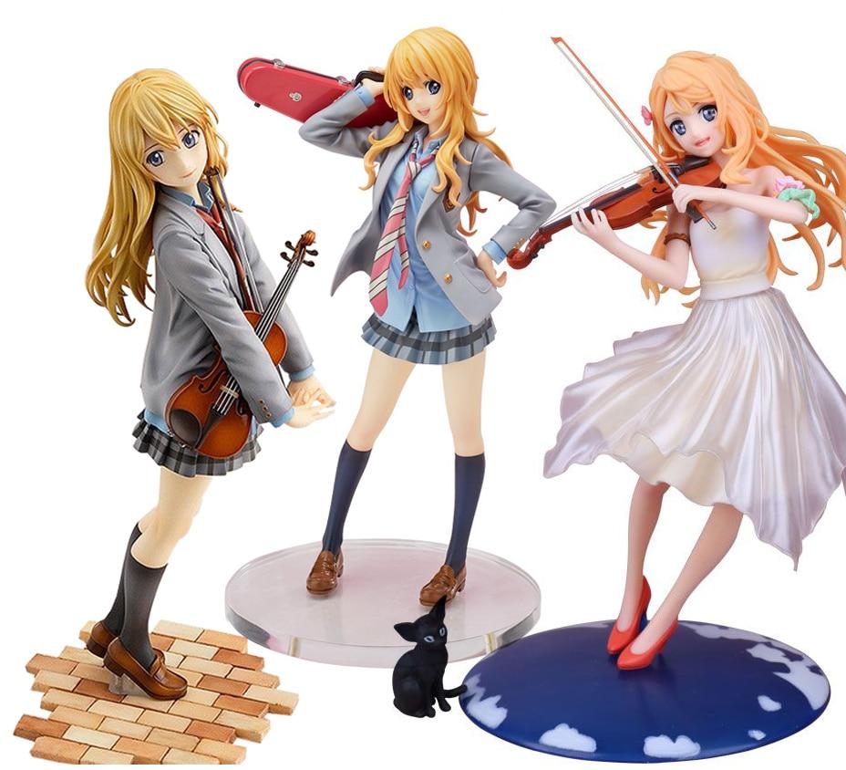 цена на 20cm Japanese anime figure action figure your lie in april kaori miyazono cartoon doll PVC figurine world anime