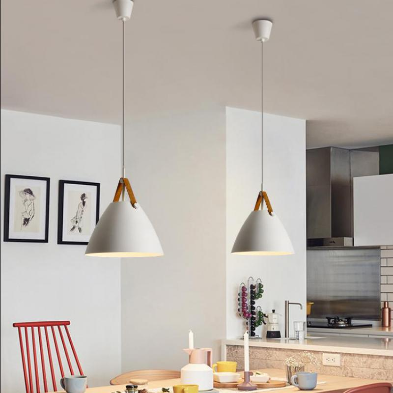 Nordic Dining Room Bedroom Lamp Modern Minimalist Hanging Lights Creative Restaurant LED Lamps Bar Cafe E27 Pendant Light modern bar restaurant table minimalist pendant lights nordic creative retro garden lamps lu812267