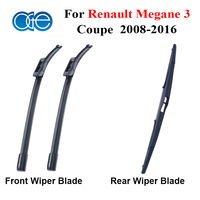 Front Rear Wiper Blade For Renault Megane 3 Coupe 2008 2016 Silicone Rubber Window Windscreen Windshield