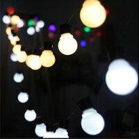 新しいノベルティ屋外照明5センチ大きなサイズledボールストリングランプブラックワイヤークリスマスライト妖精ウェディングガーデンペンダント花輪