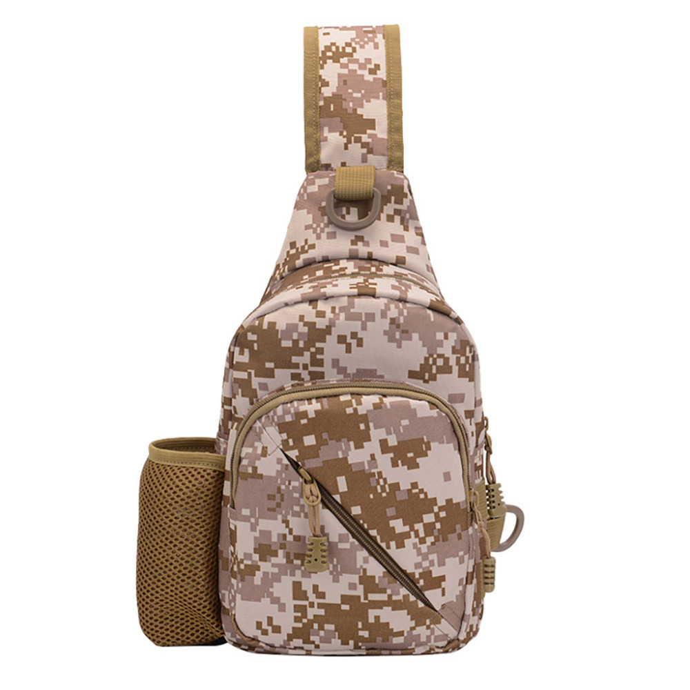 New Men Outdoor Leather Students Sport Crossbody Chest Phone Waist Bag Multifunction Crossbody Camouflage Fanny Belt Pack