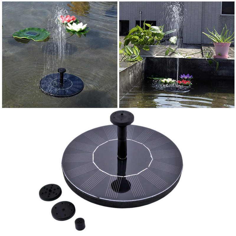 Garden Decoration Water Floating Solar Power Fountain Panel Kit Garden Water Pump For Pool Pond Garden With 3 Nozzle Spray XNC