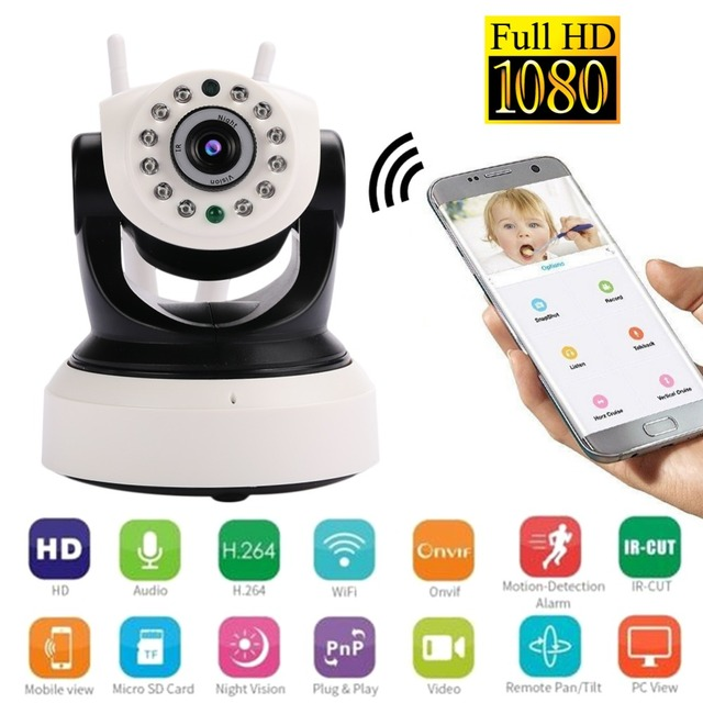 giantree 1080P 2MP Wifi Security Camera IP Camera Phone Remote Two-way voice Video Recorder Mini Wireless Camera Double Antenna