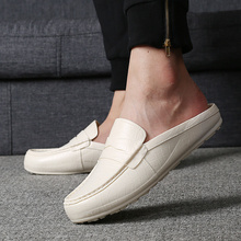 Mazefeng 2018 New Trend Spring Autumn Men Leather Casual Shoes Men Shoes Slip-on Wear-resisting Male Rain Shoes Waterproof