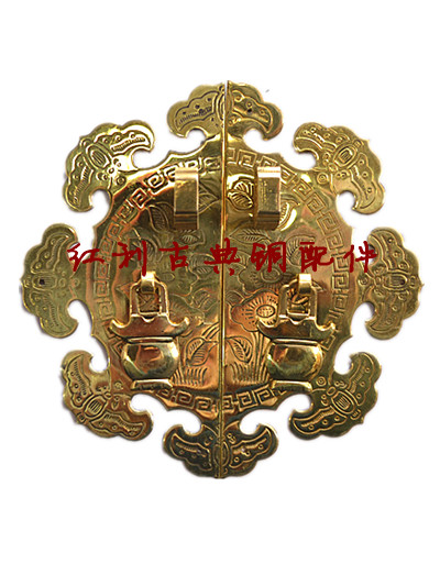 [bonus] antique copper / copper fittings of classical Chinese style furniture decoration with flower shaped lock cabinet handle