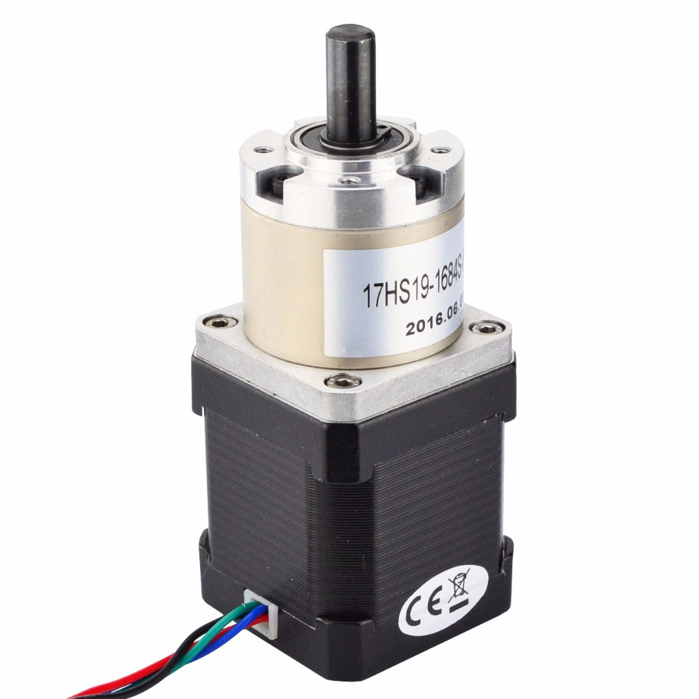 Nema 17 Gear Stepper Motor Bipolar L=48mm w/ Gear Ratio 27:1 planetary reduction gearbox 1.8 degNema 17 Gear Stepper Motor Bipolar L=48mm w/ Gear Ratio 27:1 planetary reduction gearbox 1.8 deg
