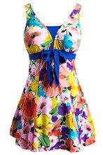 Для женщин Плавание одежда ванный комплект Push Up Плавание костюм Одна деталь Плавание платье темно-синий