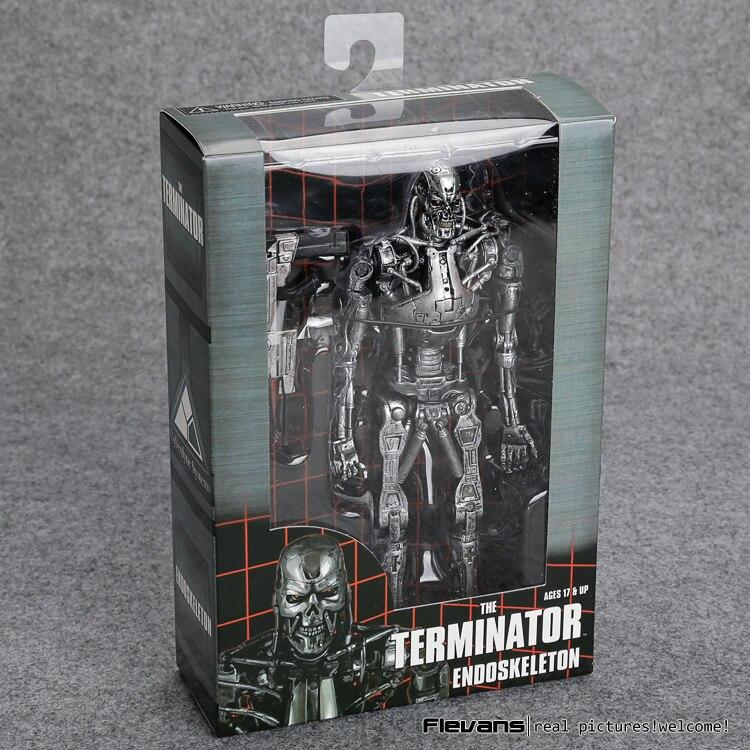 O terminator endoesqueleto pvc action figure collectible modelo brinquedo 7