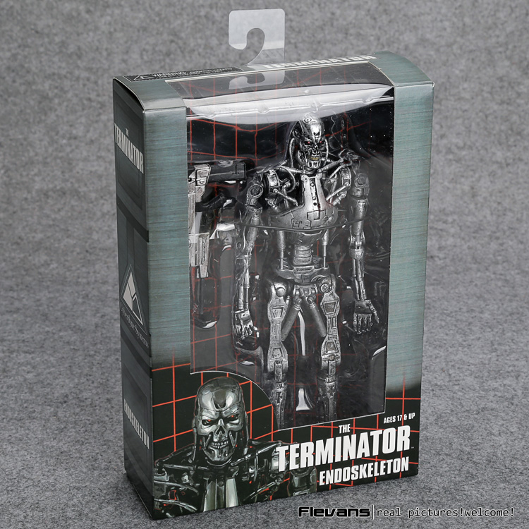 The Terminator Endoskeleton PVC Action Figure Collectible Model Toy 7 18cm MVFG361 the terminator t 800 arnold schwarzenegger pvc action figure collectible model toy 7 18cm kt1726