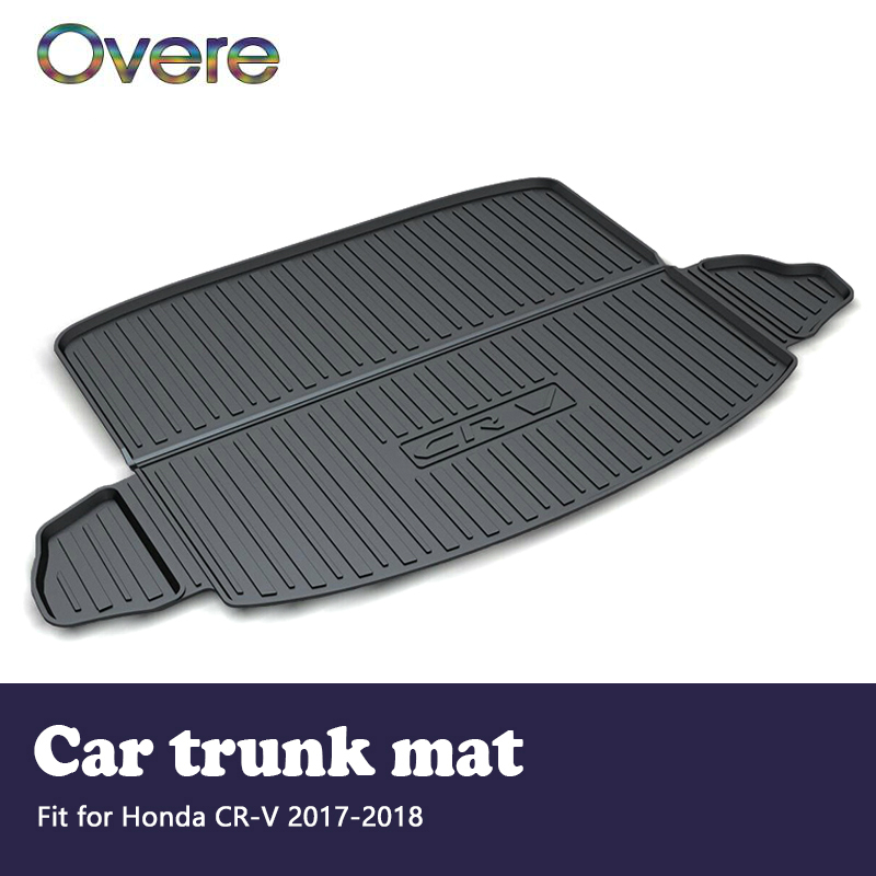Overe 1Set Car Cargo rear trunk mat For Honda CR-V CRV 2017 2018 Styling Boot Liner Waterproof carpet Anti-slip mat Accessories