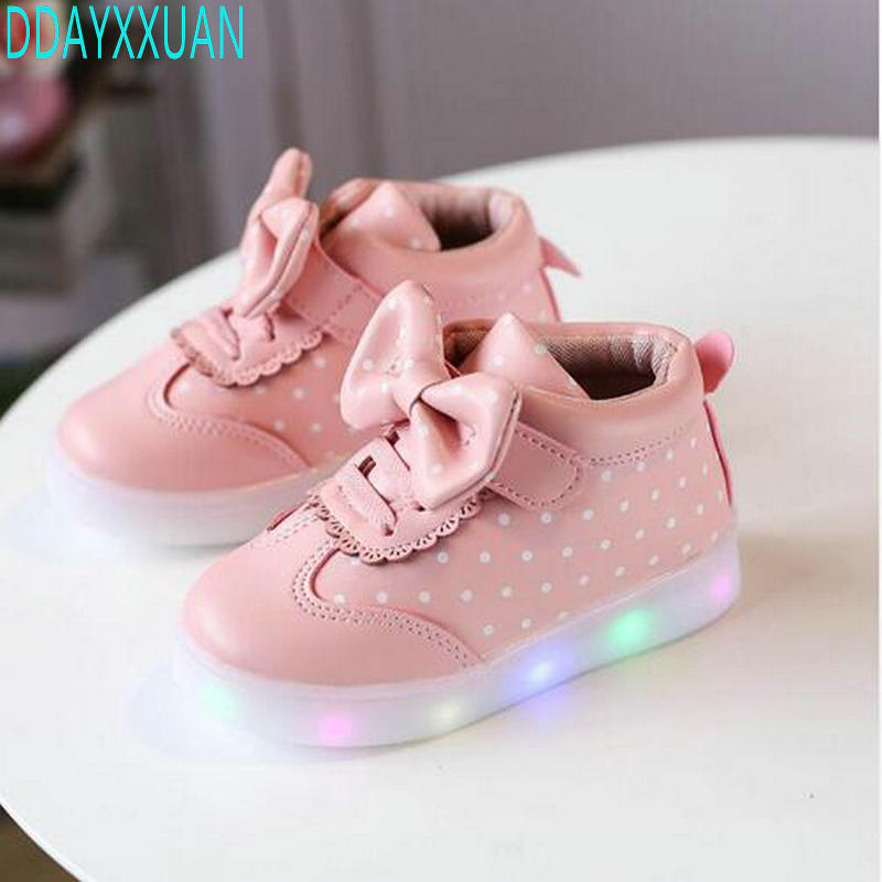 Spring Autumn Kids Led Shoes For Girls Toddler Girl Sneakers