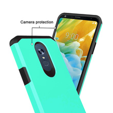 For LG Stylo 5  Dual Layer Hybrid Armor Case Shockproof Anti Scratch Protective Soft TPU & Hard Back Cover LG Stylo 5 Cover