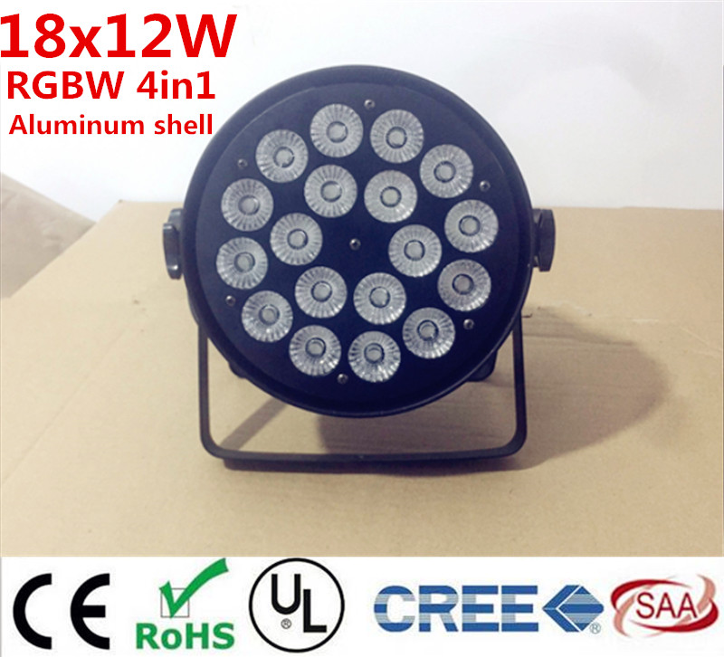 18x12W RGBW 4in1 18x15W RGBWA Led Par Light DMX wash Stage Lights Business Lights Professional Flat Par Can for Party KTV Disco 2pcs dj disco par led 54x3w stage light dmx strobe flat luces discoteca party lights laser rgbw luz de projector lumiere control