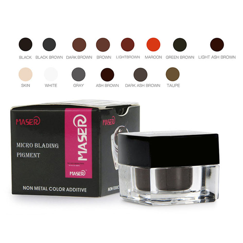 Maser Professional Tattoo Microblading Pigment Professional Eyebrow Micro Tattoo Ink Lips Makeup Tattoo Pigment microblading Ink цена 2017