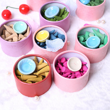 2016 New Natural Fragrant Incense Sticks Pagoda Perfume Spices Sandalwood Incense Cone With Tray 2056