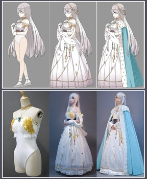 Fate Grand Order Princess Anastasia Cosplay Fancy Dress FGO Cosplay Costume Girls Gorgeous Outfit Halloween Costumes for Women 2