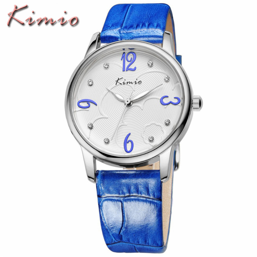Relojes Mujer 2016 New Fashion Casual Women Watches KIMIO Brand Ladies Leather Strap Waterproof Quartz Watch Relogio Feminino relojes mujer 2017 guou brand casual women watches fashion simple ladies quartz watch waterproof leather clock relogio feminino