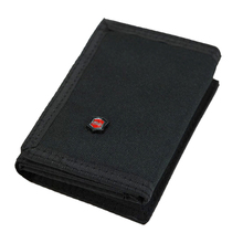 Brief Multifunctional Men's Canvas Student Wallet Zipper Short Magic 3 Fold Design Men Purse 2 Colors 11.5*8cm X103